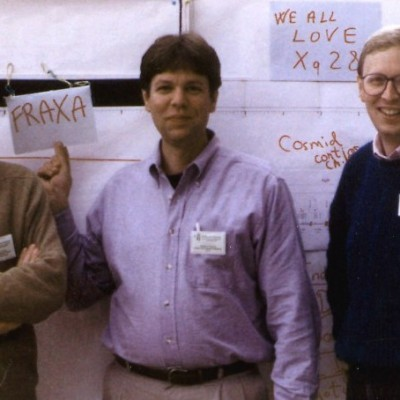Drs. Oostra, Warren, and Nelson discovered the Fragile X gene and its FRAXA mutation in 1991.