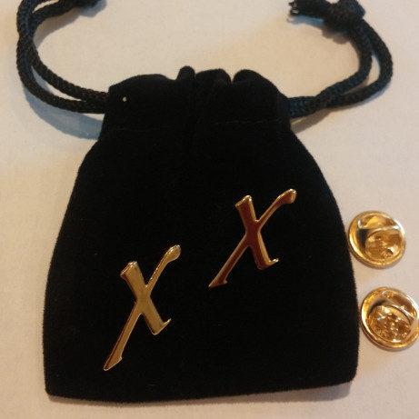 FRAXA logo X pins for Fragile X