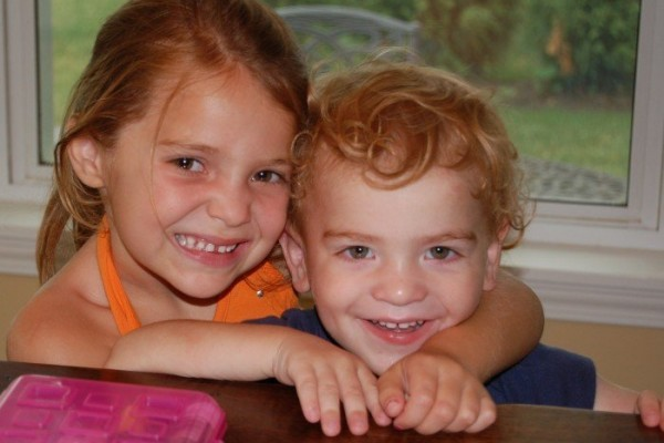 Isabella, age 5, and Tommy, age 2, have fragile X