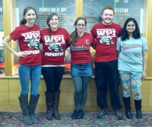 Students at WPI helping FRAXA