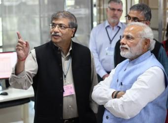 FRAXA investigator Sumantra Chattarji and India Prime Minister Shri Narendra Modi