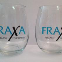FRAXA stemless wine glasses
