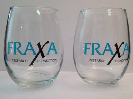 FRAXA stemless wine glasses