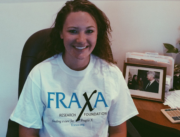 FRAXA volunteer Emily Fluet