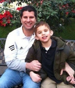 Ted Coutilish and his son, Andrew