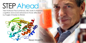 Yale Professor Paul Lombroso studies STEP inhibitors for Fragile X