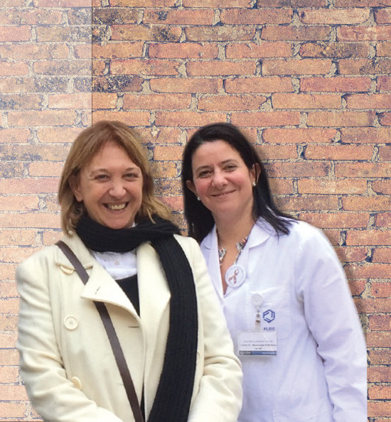 Seeking biomarkers for Fragile X syndrome. Patricia Cogram, PhD, and Paulina Carullo, MD
