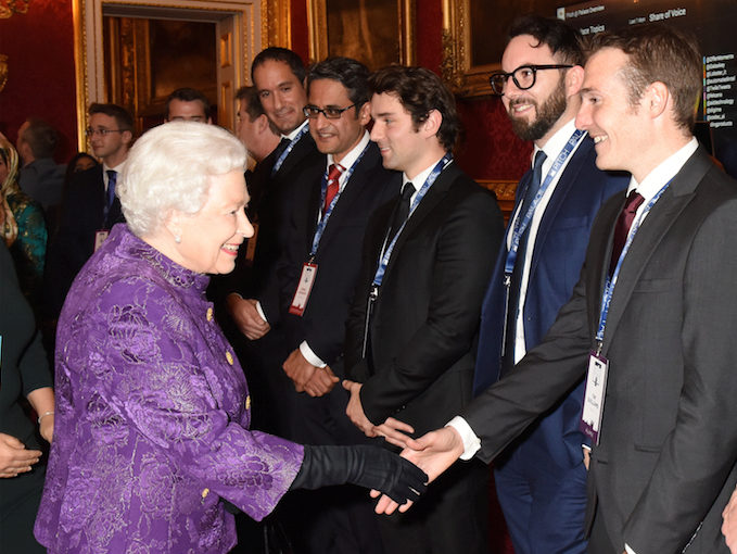 Healx CEO Tim and HRH Queen Elizabeth