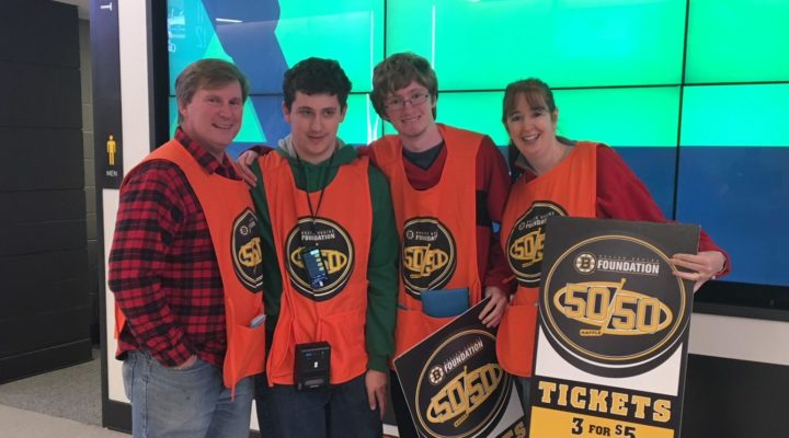Volunteer for FRAXA at the Boston Bruins Game