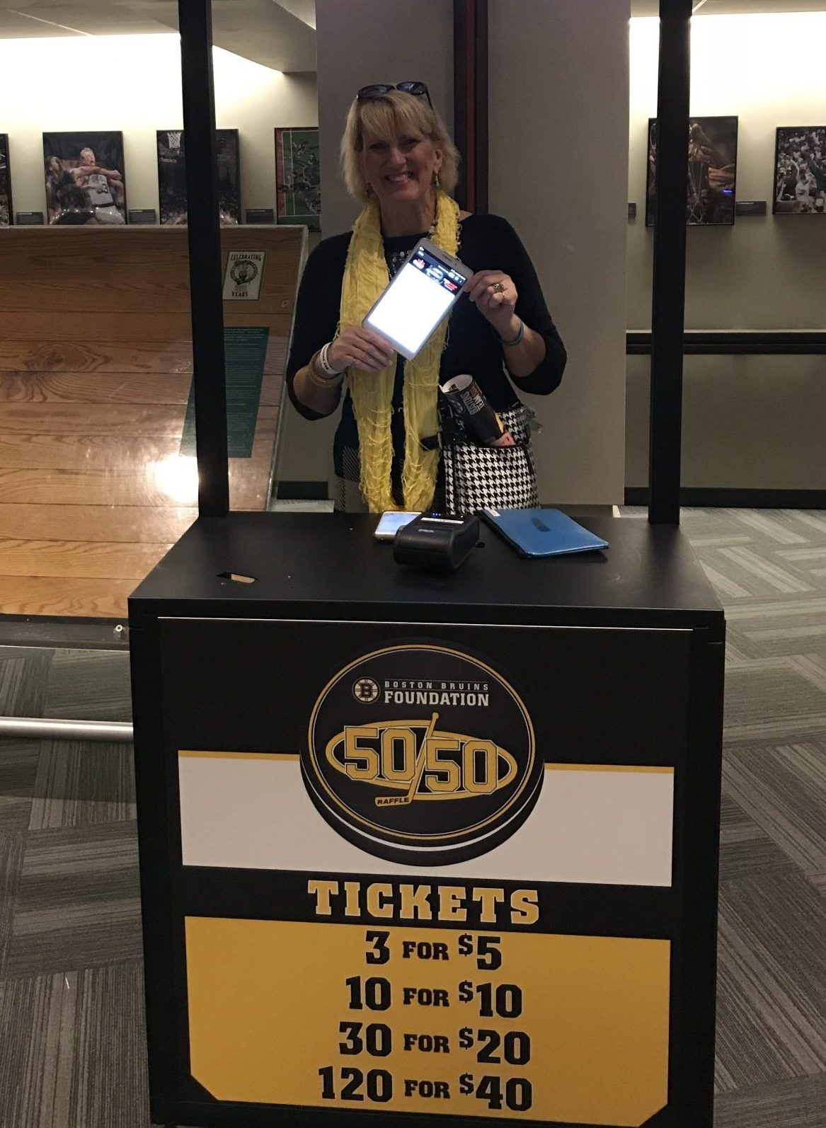 Missi Bjork at the Bruins fundraiser for FRAXA