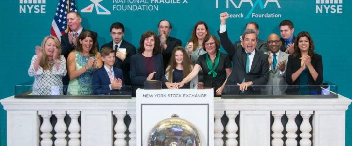 Ringing the Bell at the New York Stock Exchange for Fragile X Awareness