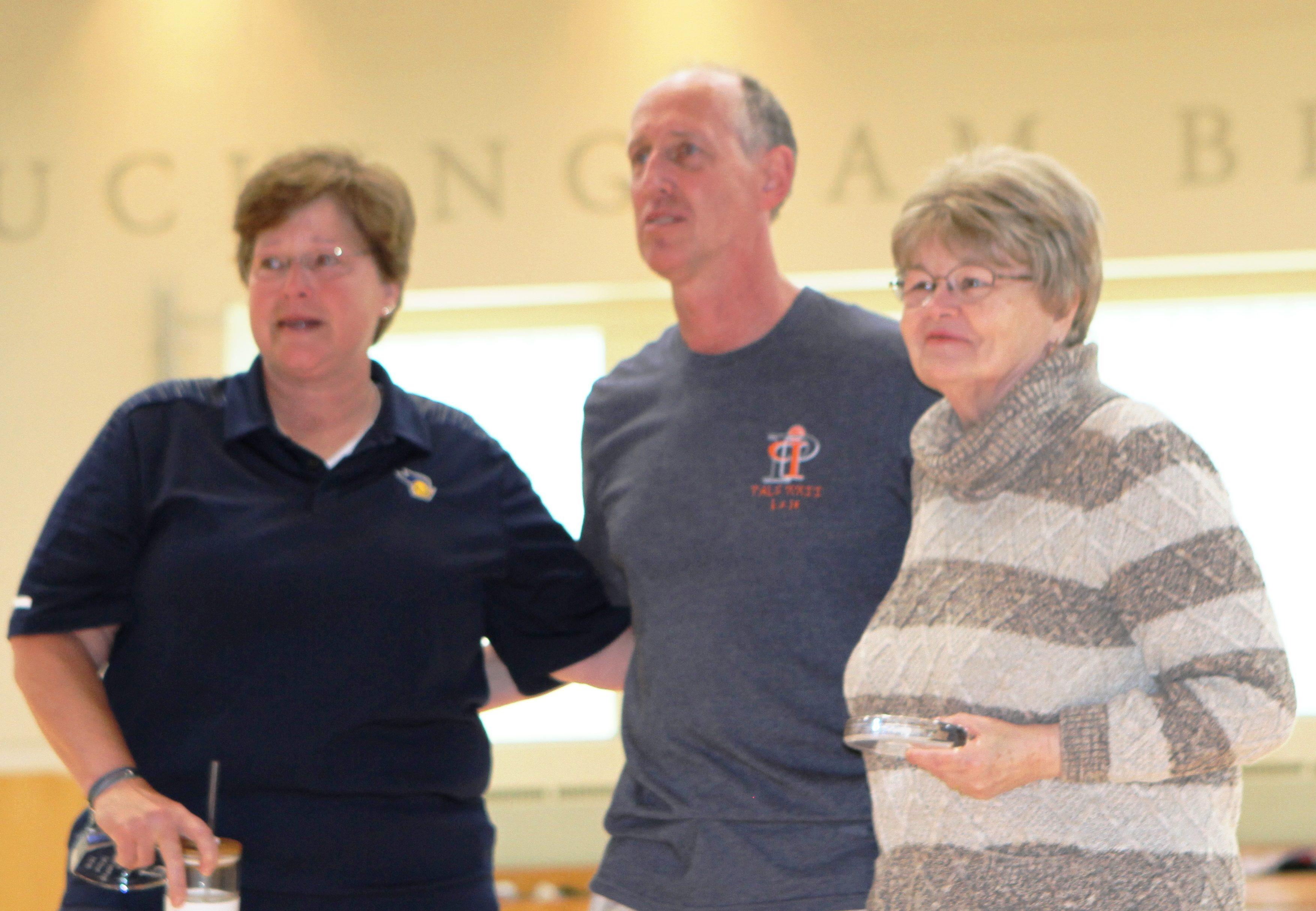 Kathy Newel and Kathy Hogan with Jim Vershbow