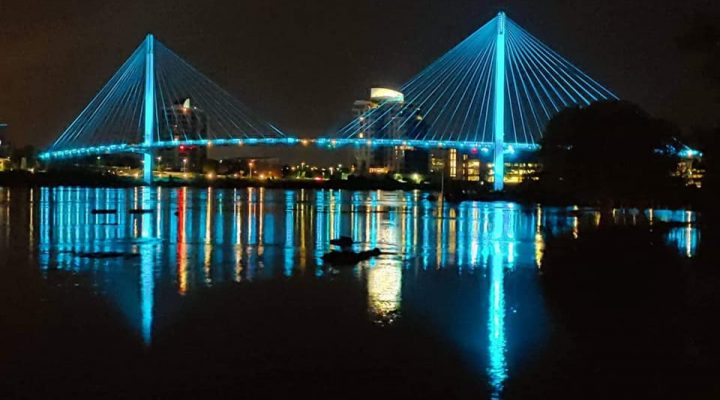 22 Landmarks Lit up Teal for Fragile X Awareness Day